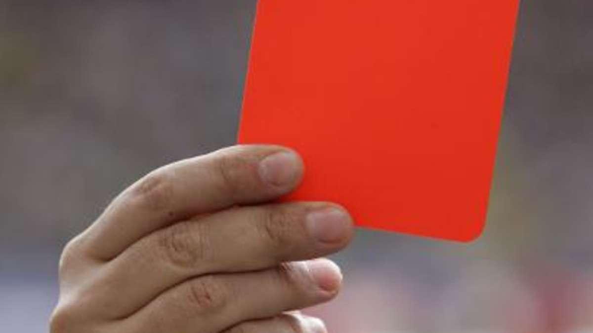 rote karte bundesliga