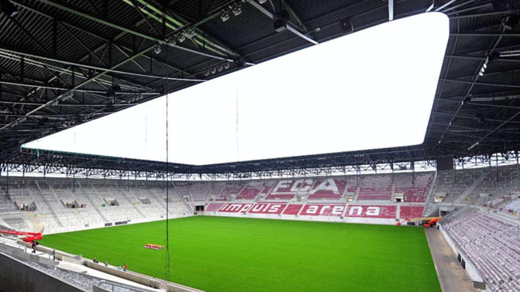 fc augsburg bezieht neues stadion einweihung der impuls arena fu ball. Black Bedroom Furniture Sets. Home Design Ideas