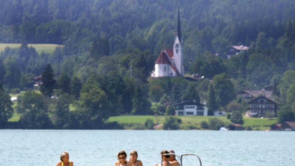Tegernsee Südwestufer - Baden in Bad Wiessee, Abwinkl