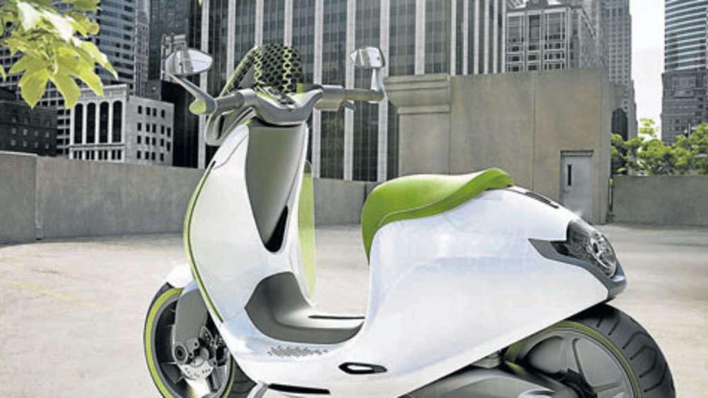 die schwaben zeigen das elektro zweirad e scooter auf. Black Bedroom Furniture Sets. Home Design Ideas