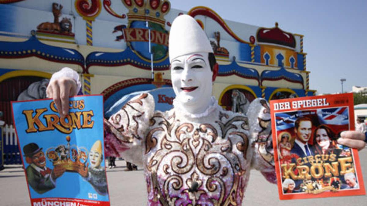 Wie der circus krone auf die spiegel titelseite kommt stadt for Spiegel geschichte logo