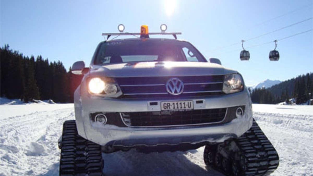 Schneetauglich vw amarok mit raupen f r den winter auto for Garage volkswagen persan