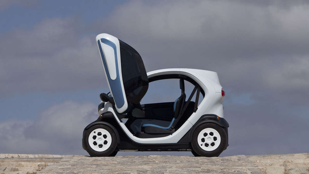 der neue renault twizy elektro zweisitzer auto. Black Bedroom Furniture Sets. Home Design Ideas