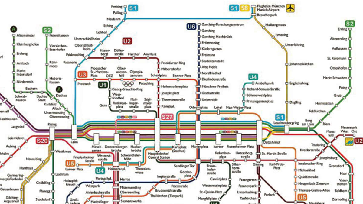 metro map of u bahn plan m nchen u bahn plan m nchen. Black Bedroom Furniture Sets. Home Design Ideas