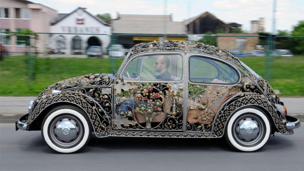 vw k fer mit kunstschmiedearbeit ist auf der motor show in essen zu sehen auto. Black Bedroom Furniture Sets. Home Design Ideas
