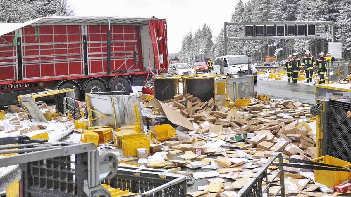 Brunnthal bei unfall auf der a8 geht weihnachtspost - Bilder weihnachtspost ...