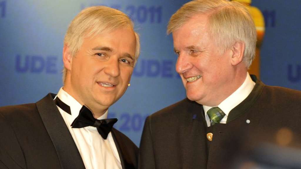 Horst Seehofer (r.) und Double Wolfgang Krebs