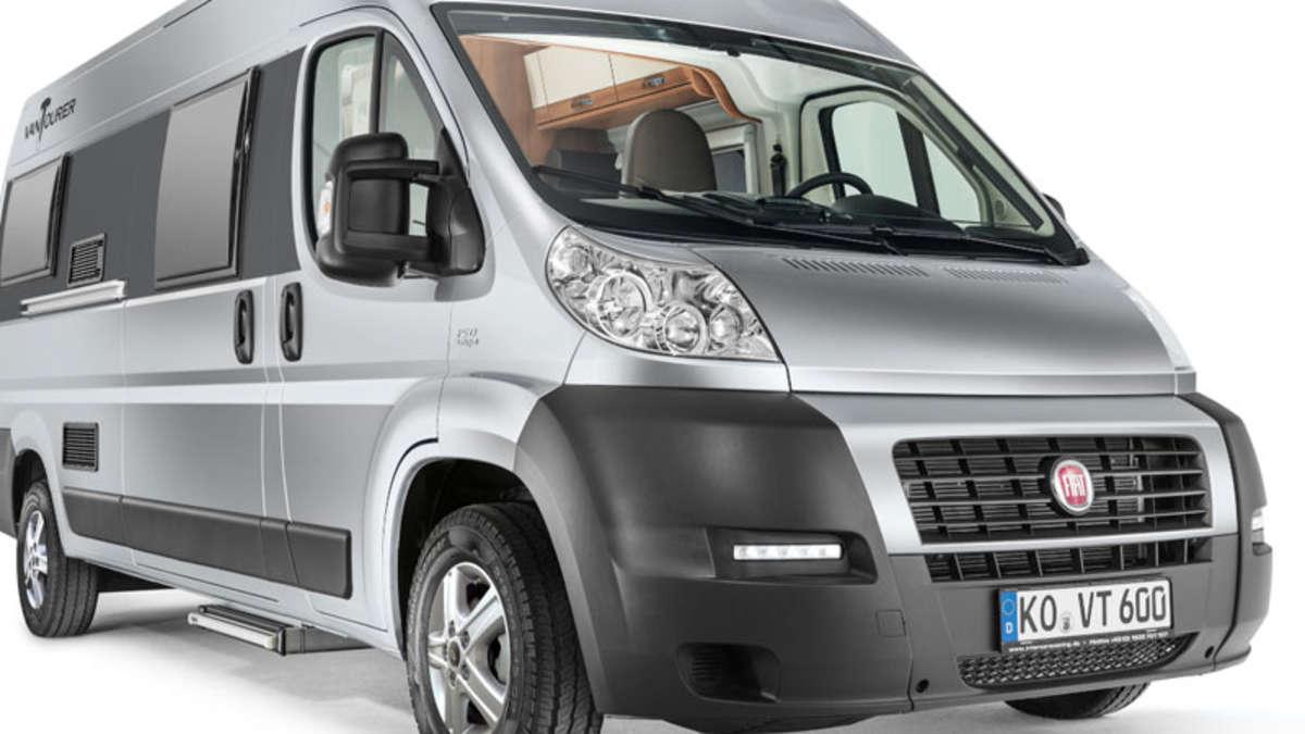 caravan salon 2013 mit fiat ducato wohnmobil van tourer. Black Bedroom Furniture Sets. Home Design Ideas