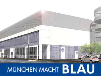 die neue mahag volkswagenwelt in der landsberger stra e. Black Bedroom Furniture Sets. Home Design Ideas