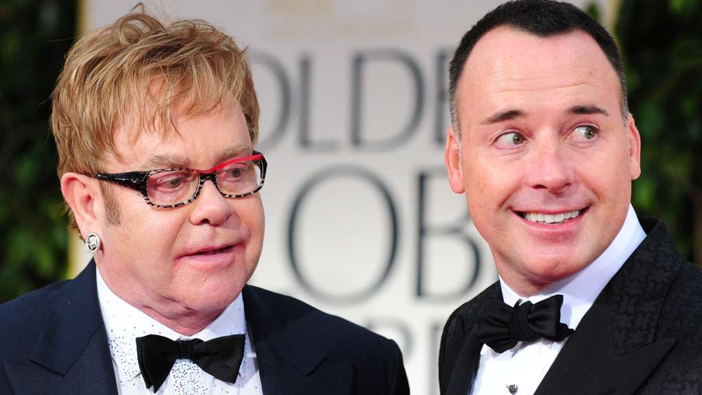 Elton John (l.) mit David Furnish
