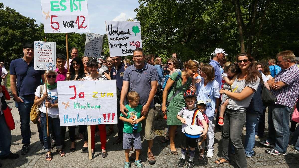 Klinikum Harlaching, Demonstration