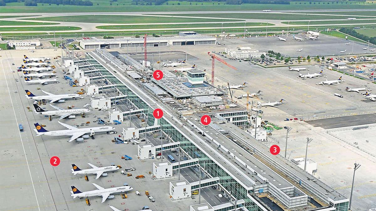 Flughafen m nchen der neue satellit f r das terminal 2 for Tz stellenanzeigen munchen