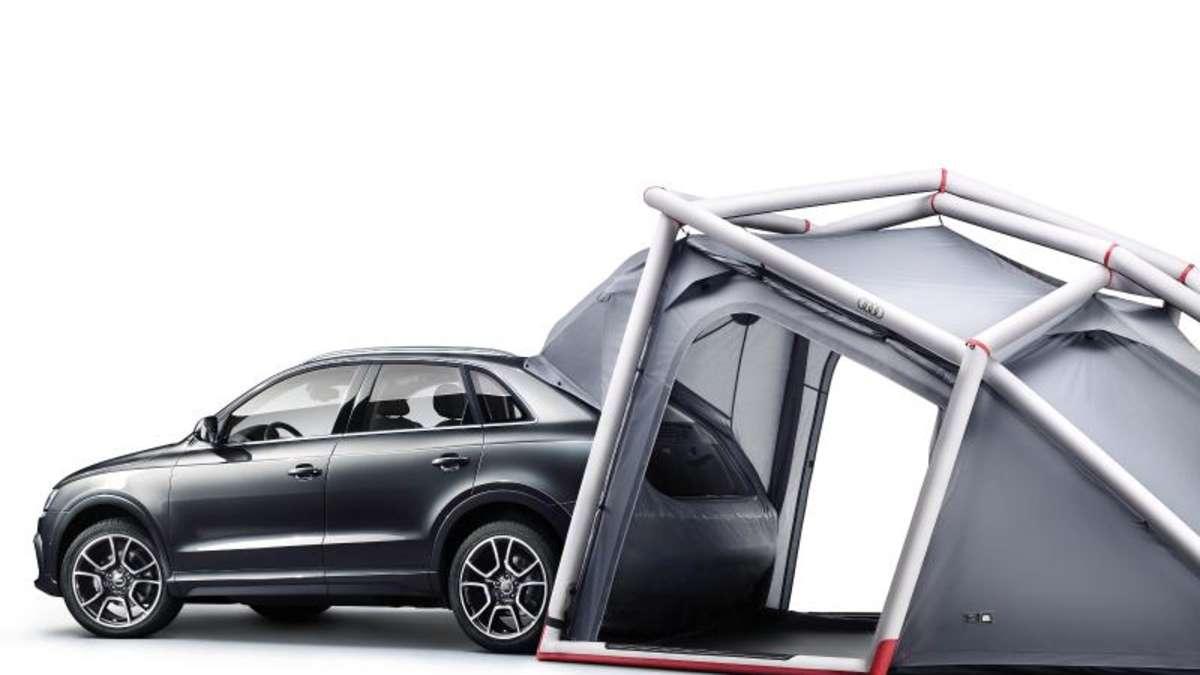 aufgefrischter audi q3 kommt auf wunsch mit campingzelt auto. Black Bedroom Furniture Sets. Home Design Ideas