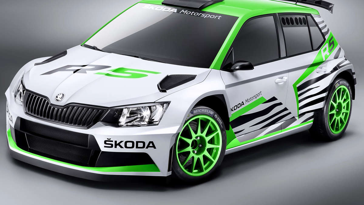 skoda fabia r 5 concept car mit hightech in die rallye zukunft auto. Black Bedroom Furniture Sets. Home Design Ideas