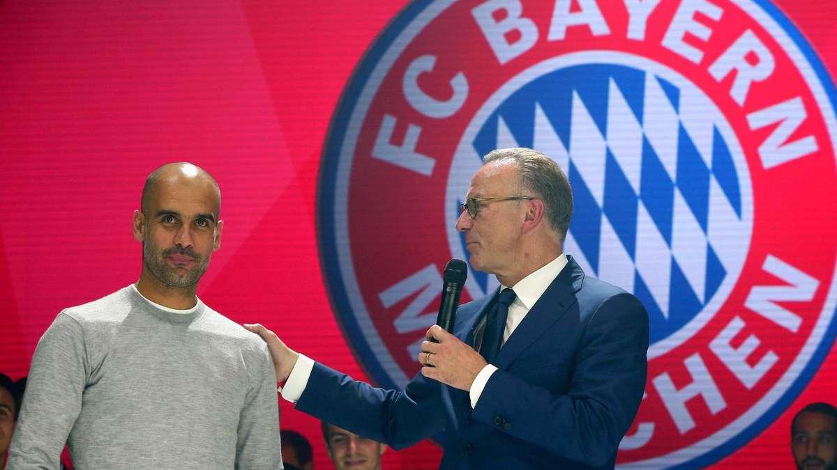 Die Dusche F?r Meister : Pep Guardiola: Kampfansage f?r kommende Saison FC Bayern