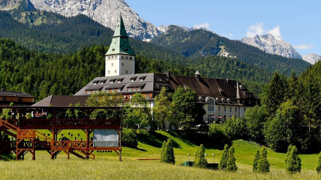 Schloss Elmau treffen sich im Juni Regierungschefs zum G7-Gipfel 2015 ...