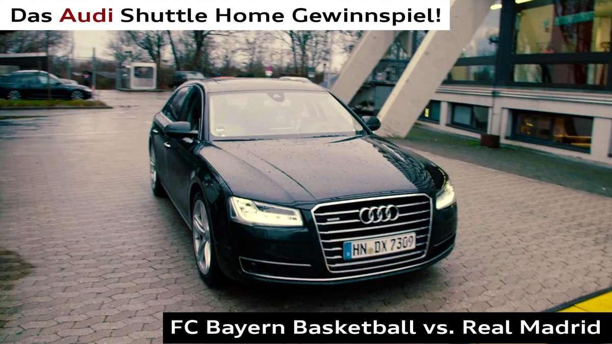 audi shuttle home 2 tickets f r fc bayern basketball gewinnen auto. Black Bedroom Furniture Sets. Home Design Ideas