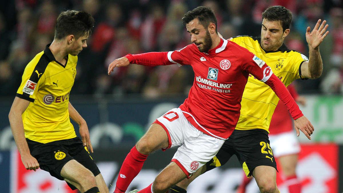Borussia dortmund gegen fsv mainz 05 live im tv und im for Bundesliga live stream