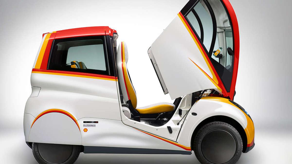shell concept car sparsames stadtauto mit drei sitzen auto. Black Bedroom Furniture Sets. Home Design Ideas