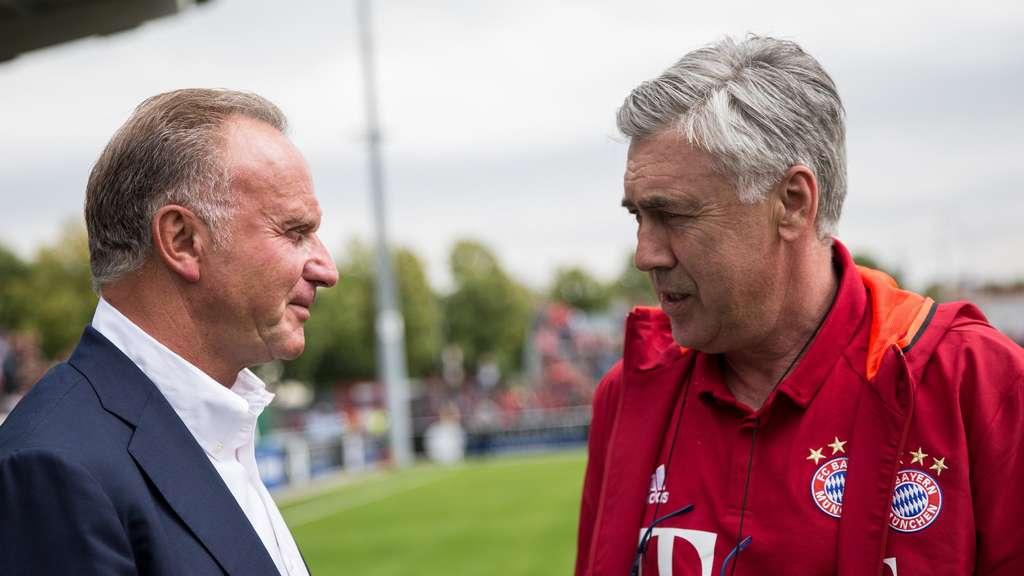 Karl-Heinz Rummenigge und Carlo Ancelotti