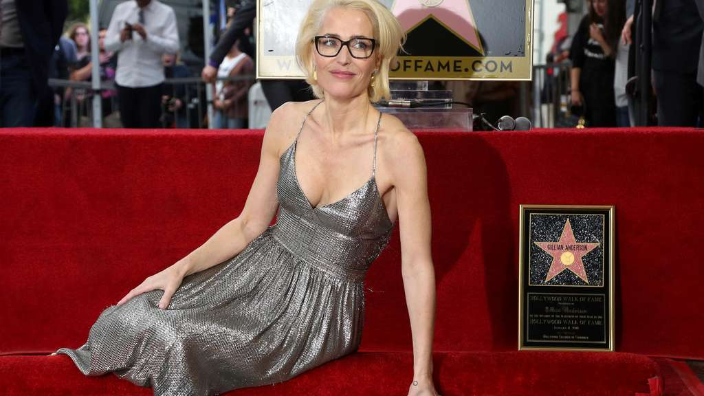 Gillian Anderson bekommt ihren Stern am