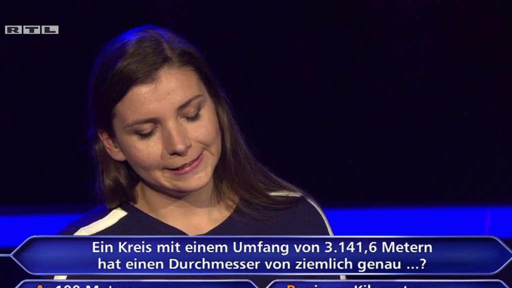Kandidatin Sarah Scherbaum hat zwei Mathelehrer als Telefonjoker