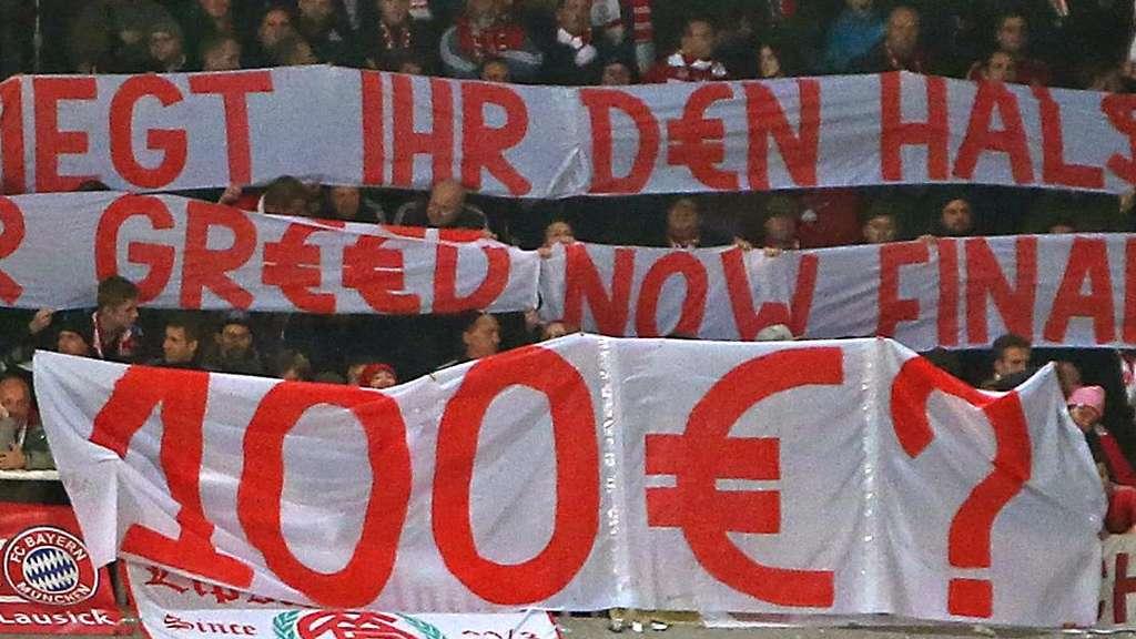Die Fans des FC Bayern protestierten bereits beim Spiel in Anderlecht gegen die Ticket-Preise