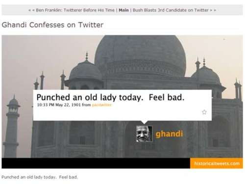 Website des Tages: Historische Tweets