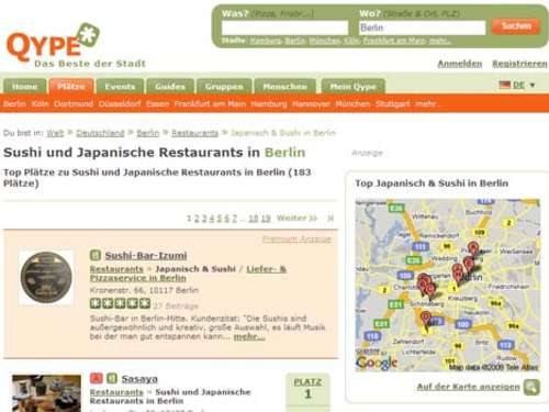 Website des Tages: Qype