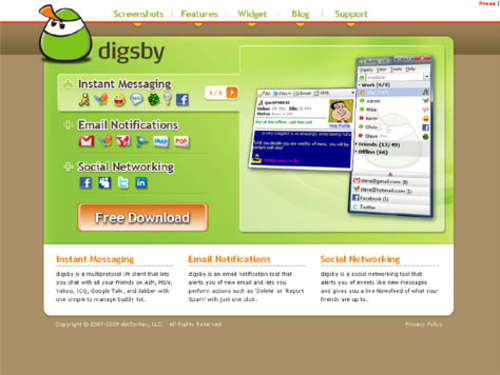 Website des Tages: Digsby