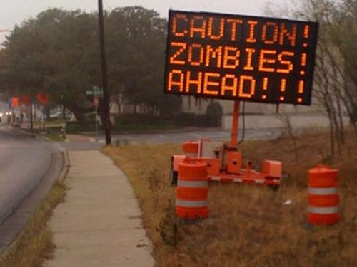 Achtung Autofahrer: Zombies in Austin
