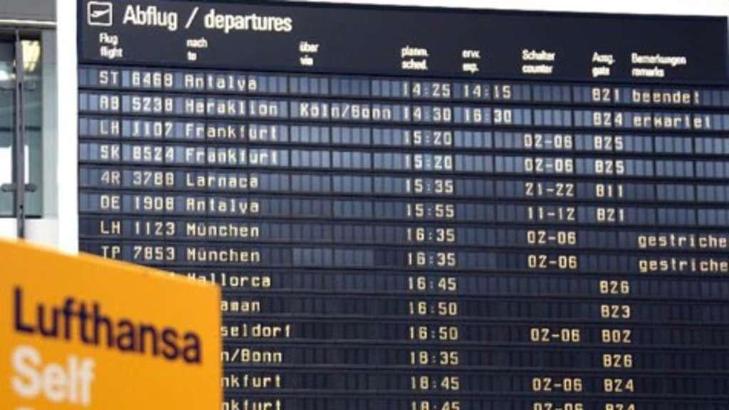 In München Fielen Alle Lufthansa Cityline Flüge Aus Stadt