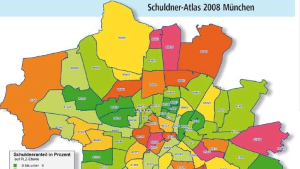 Postleitzahlen München Karte.Heimat Der Schulden Stadt