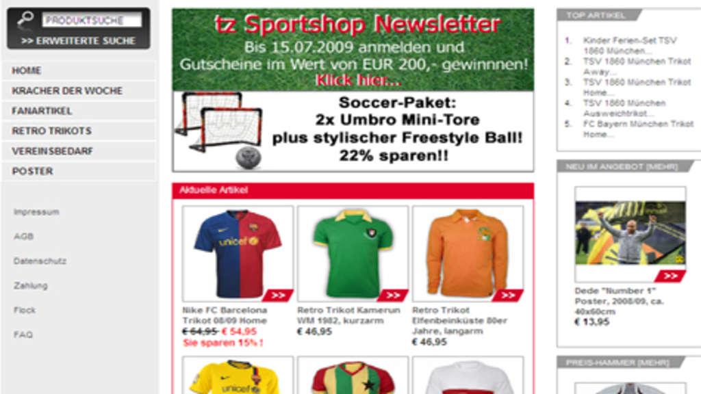brand new 8e13b 569b3 Gewinnspiel für Fans und Sportler: tz Sportshop ist online ...