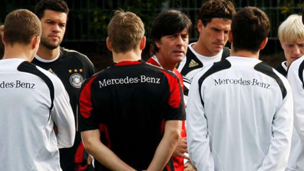 Die deutsche Nationalmannschaft ist in Südafrika vor der WM