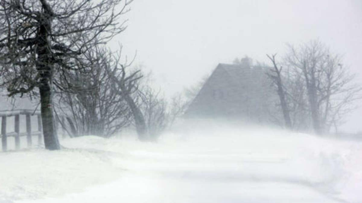 Schneesturm In Deutschland