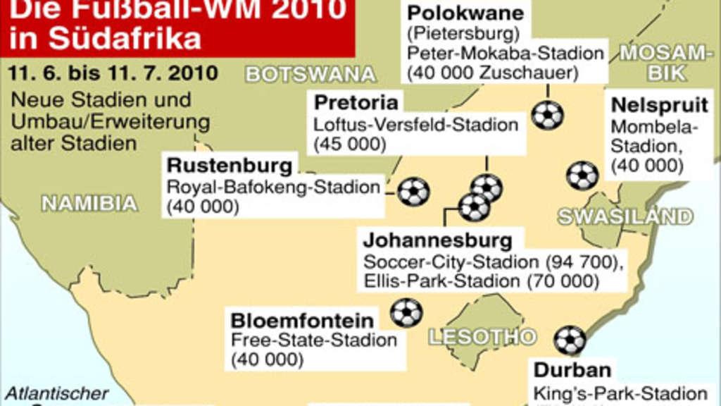 Fußball Wm 2010 Die Zehn Wm Stadien In Südafrika Fußball