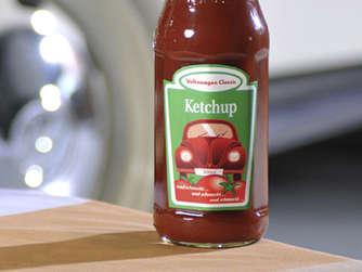 volkswagen kulinarisch classic ketchup auto. Black Bedroom Furniture Sets. Home Design Ideas