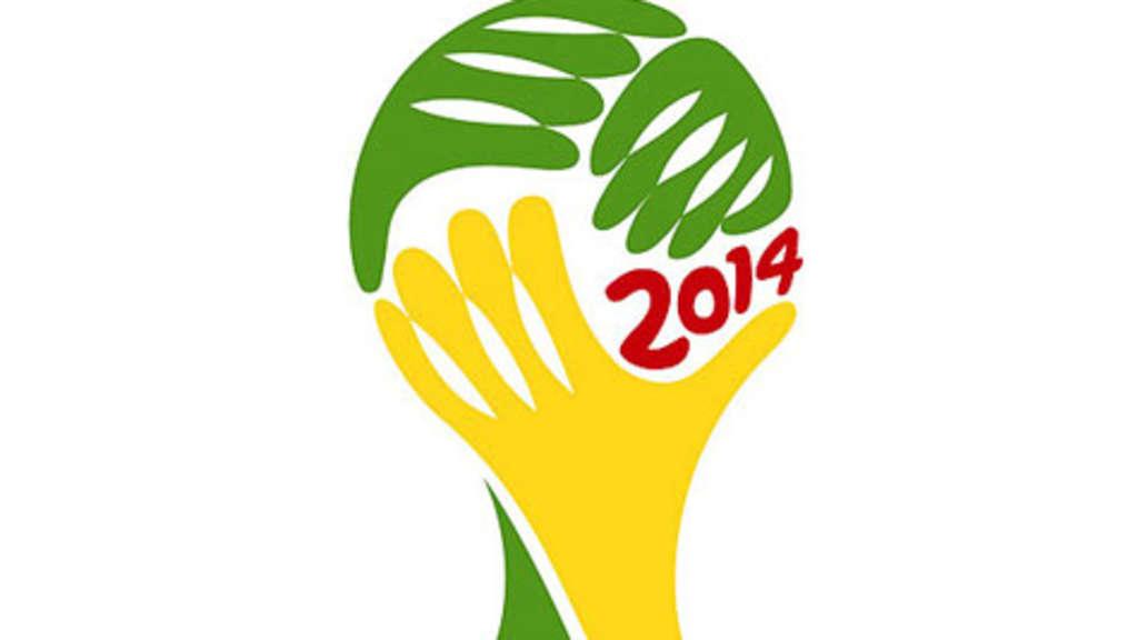 Logo für Fußball-WM 2014 in Brasilien steht | Fußball