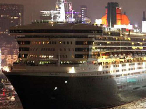 """Queen Mary 2"" in Hamburg"