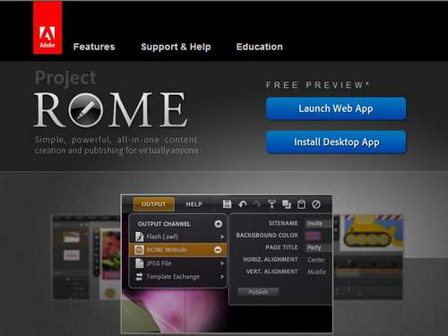 "Adobe startet neue Layout-Software ""Rome"""