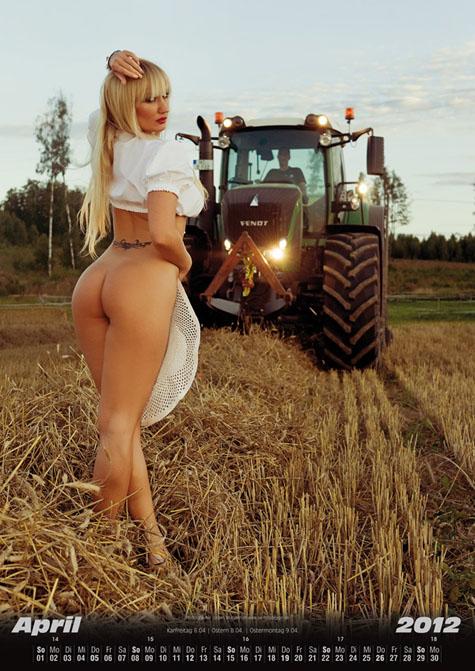 Interracial sexy women tractors