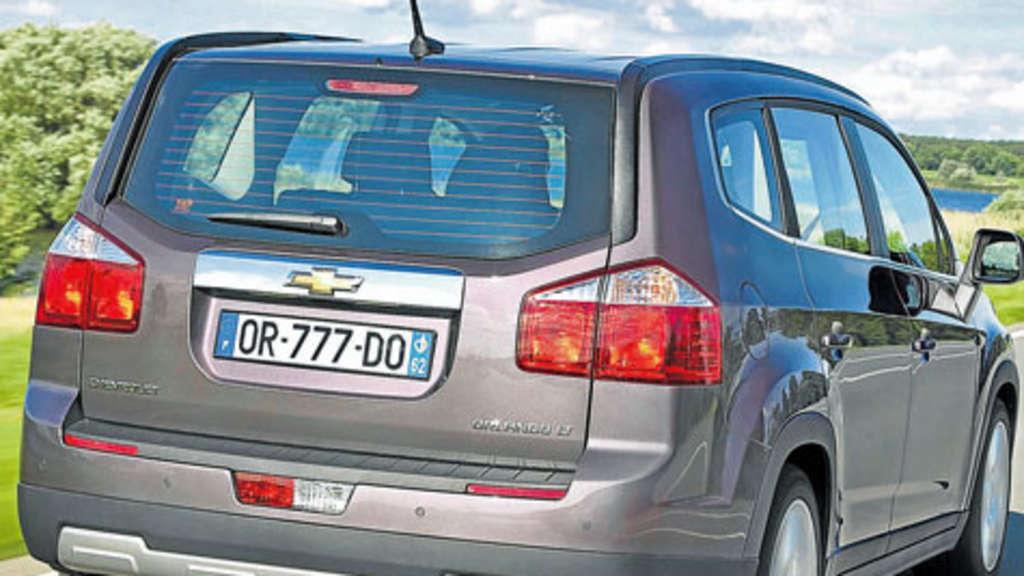 Sieben Sitze Gnstige Preise Chevrolet Orlando Greift Vw Touran