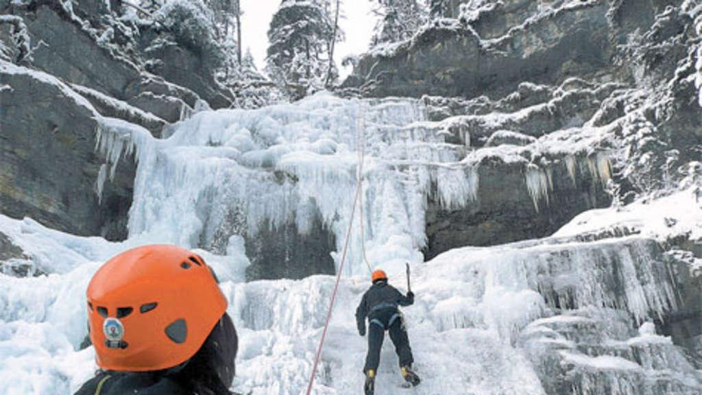 Klettergurt Eisklettern : In drei schritten zum eisklettern outdoor
