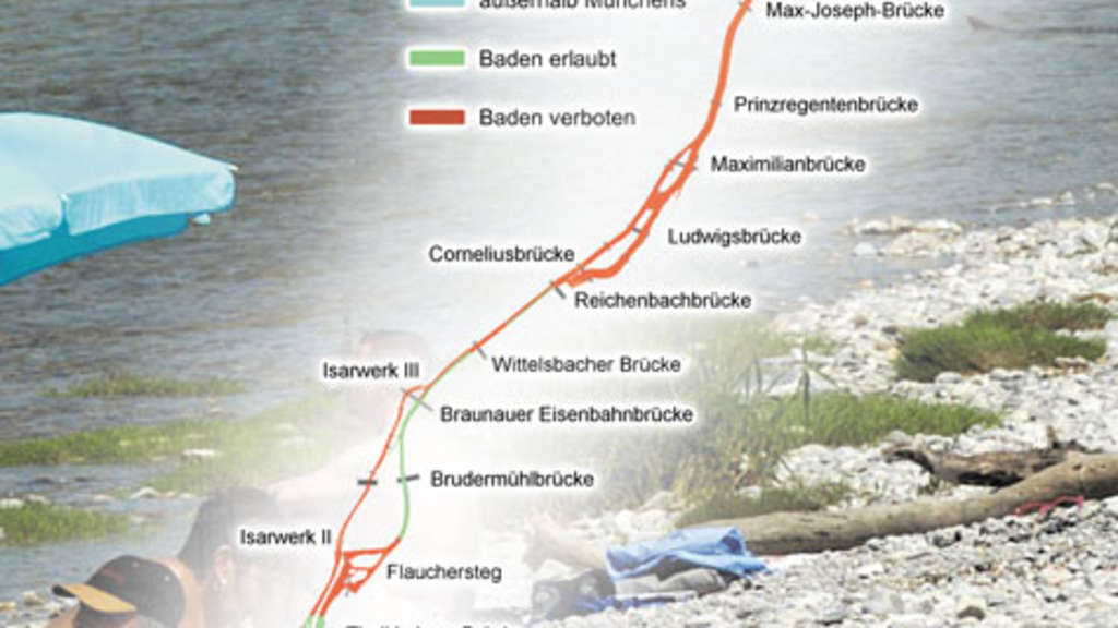 Isar Fluss Karte.Badespaß In Der Isar Wo Schwimmen Und Bootfahren Erlaubt Ist Stadt