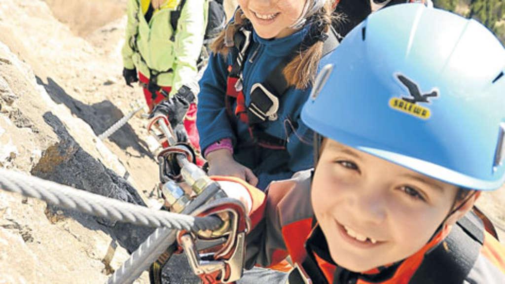 Klettergurt Kind : Outdoor tipp vom profi mit kinder am klettersteig