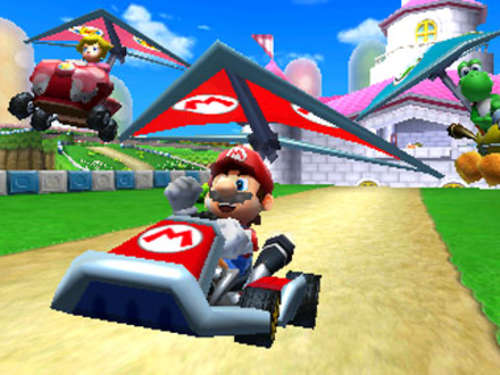Screenshots aus Mario Kart 7