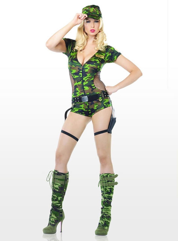 Sexy army cadet uniform costume
