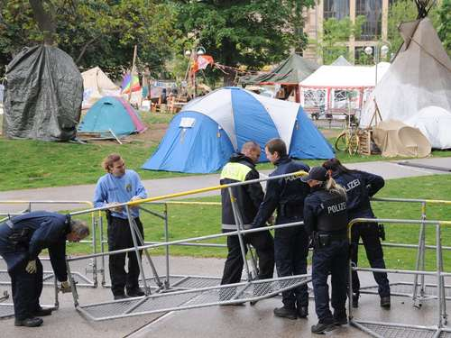 Occupy-Camp in Frankfurt geräumt