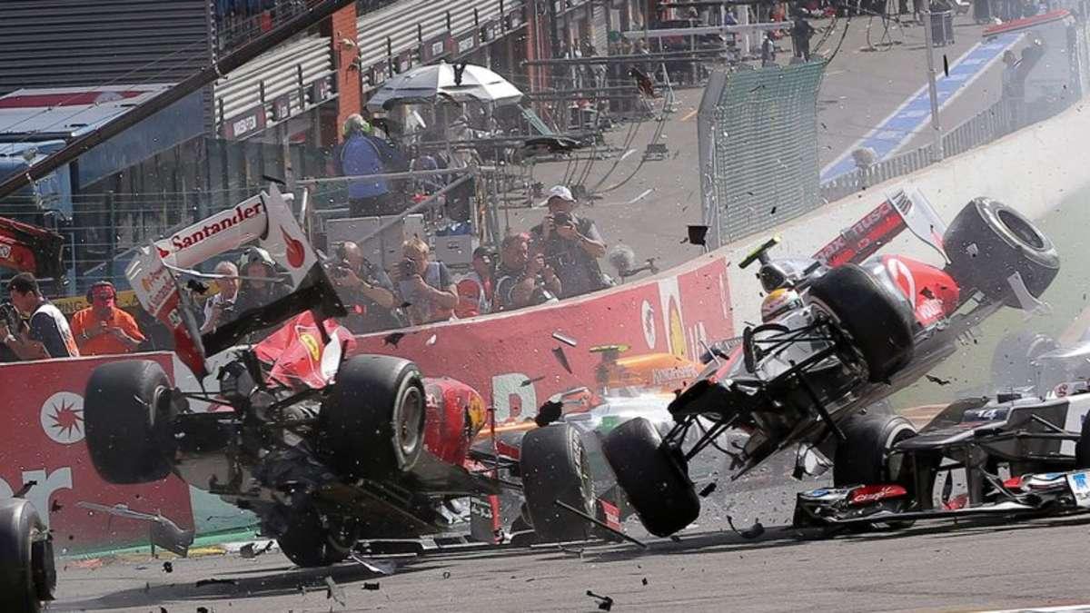 Formel 1 Unfall Alonso